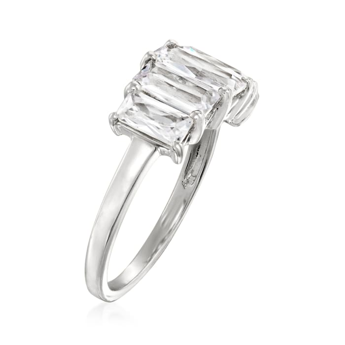 2.60 ct. t.w. CZ Five-Stone Ring in Sterling Silver