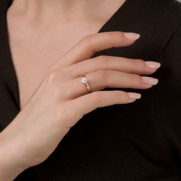 .75 Carat Diamond Solitaire Ring in 14kt Yellow Gold