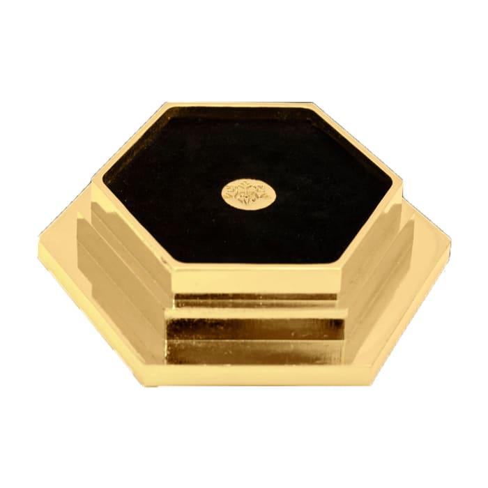 Crystamas Swarovski Crystal Goldtone Hexagon Wine Coaster