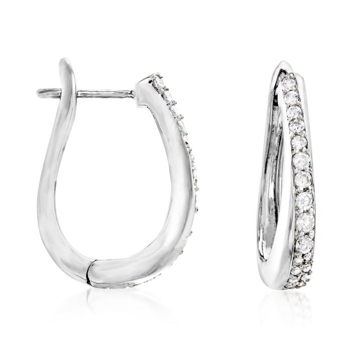 .50 ct. t.w. Diamond Hoop Earrings in Sterling Silver