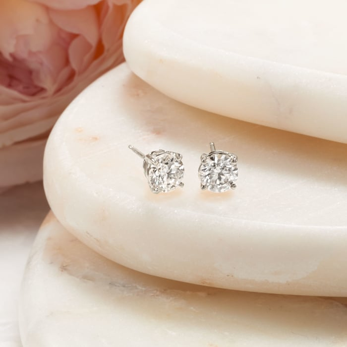 1.00 ct. t.w. Diamond Stud Earrings in Platinum