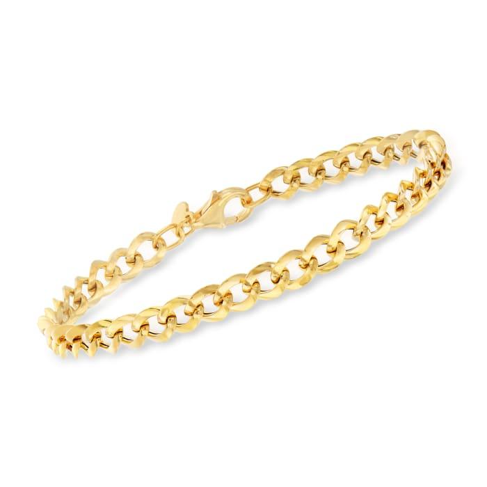 Italian 18kt Yellow Gold Curb-Link Bracelet