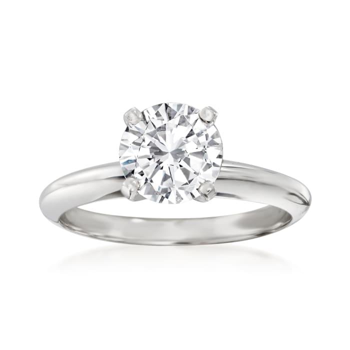 Platinum Four-Prong Engagement Ring Setting
