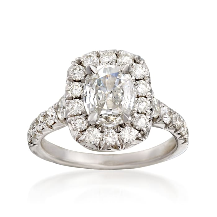 Henri Daussi 2.18 ct. t.w. Certified Diamond Engagement Ring in 18kt White Gold