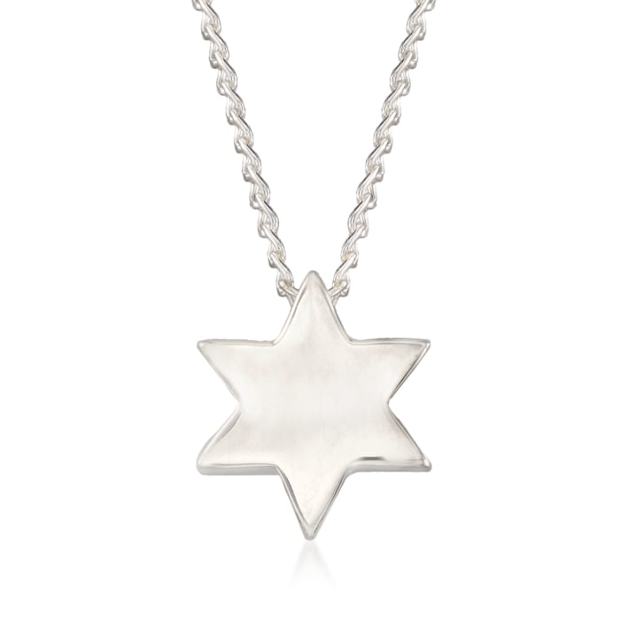 """Zina Sterling Silver """"Contemporary"""" Star of David Necklace"""