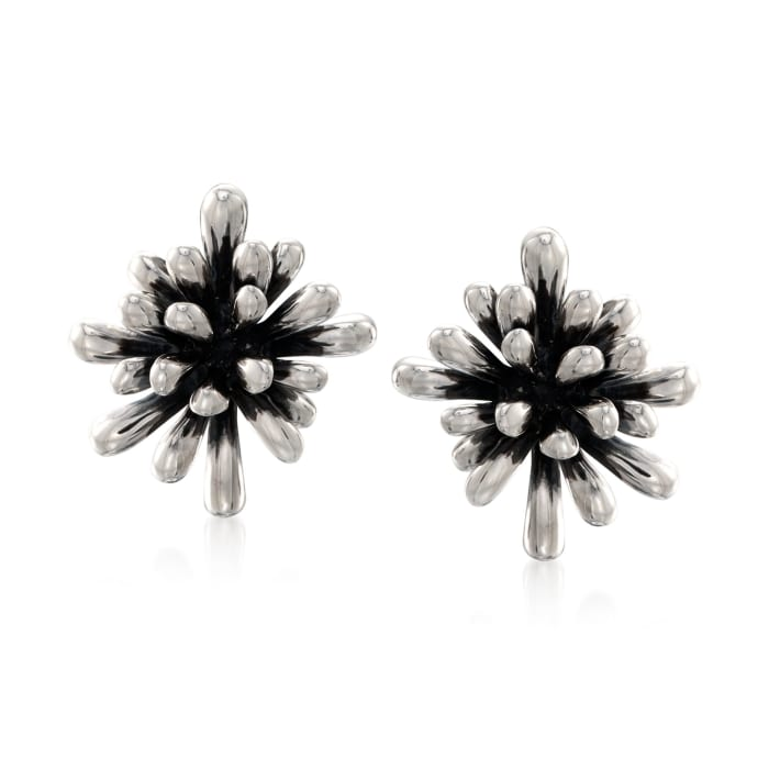 "Zina Sterling Silver ""Fireworks"" Clip-On Earrings"