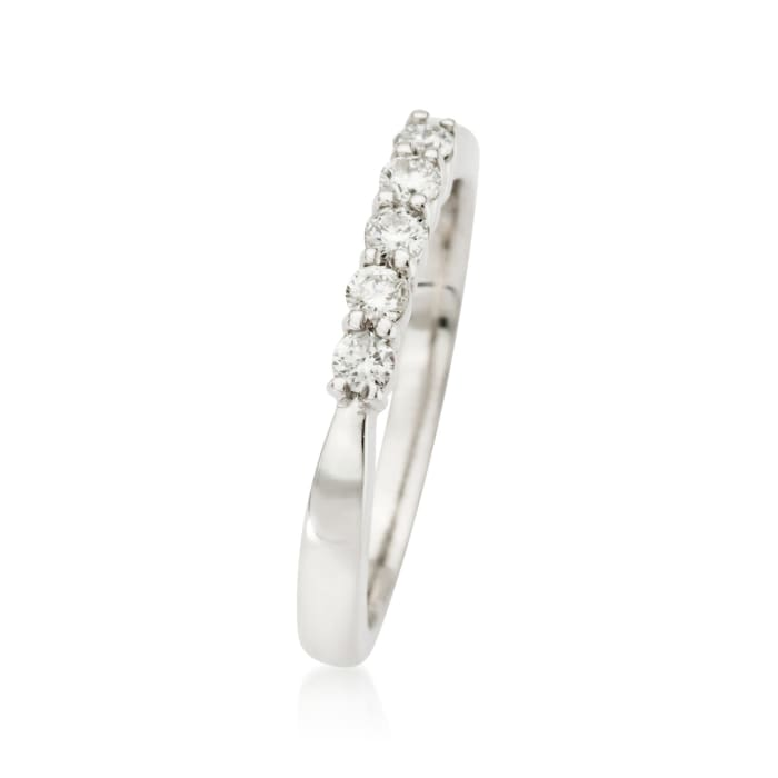 .25 ct. t.w. Diamond Five-Stone Wedding Ring in 14kt White Gold