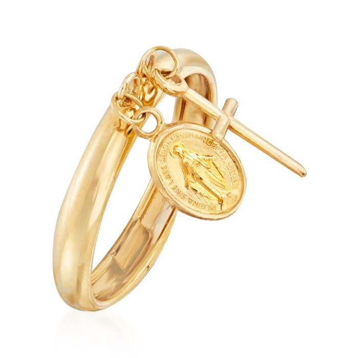 Italian 14kt Yellow Gold Religious Charm Ring