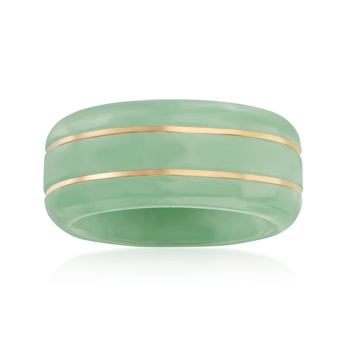 Jade Ring with 14kt Yellow Gold