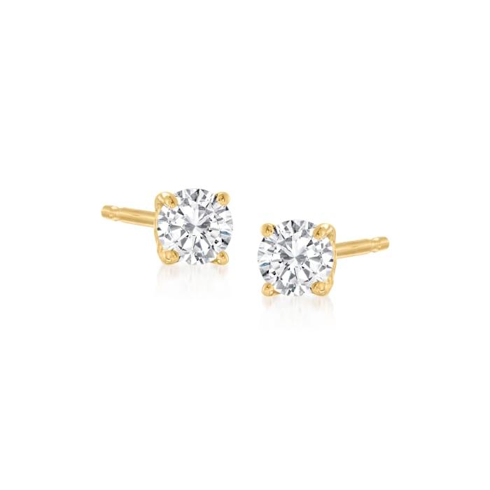 .20 ct. t.w. Diamond Stud Earrings in 14kt Yellow Gold