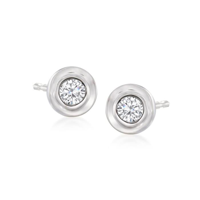 .12 ct. t.w. Diamond Stud Earrings in 14kt White Gold