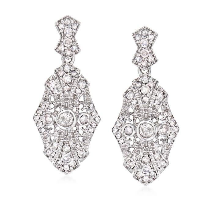 .50 ct. t.w. Diamond Drop Earrings in Sterling Silver