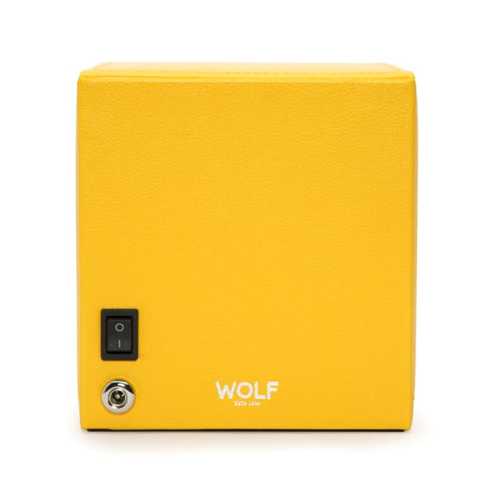 """Wolf """"Cub"""" Yellow Leather Watch Winder"""