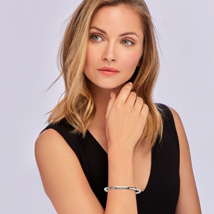 Italian 14kt White Gold Bangle Bracelet
