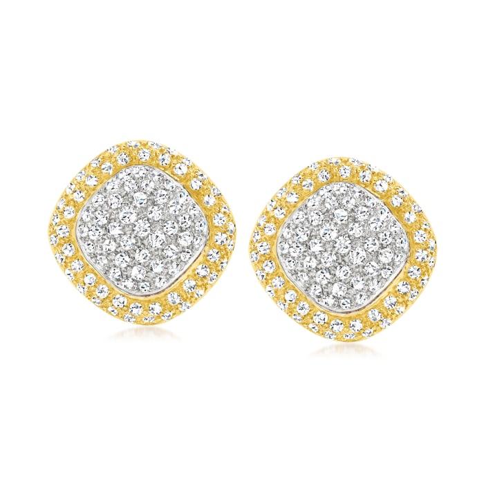 C. 1980 Vintage 2.30 ct. t.w. Diamond Earrings in 18kt Two-Tone Gold