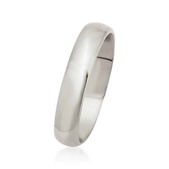 Men's 4mm 14kt White Gold Wedding Ring