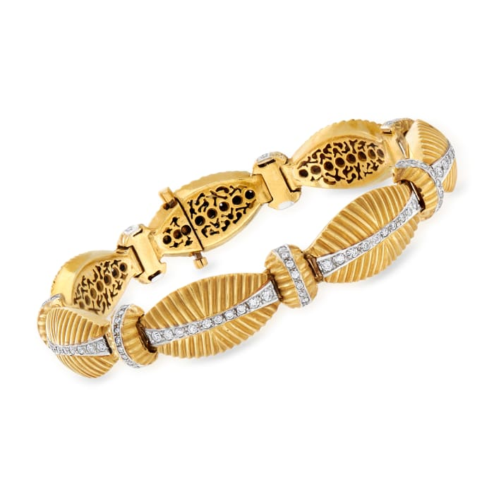 C. 1970 Vintage 2.50 ct. t.w. Diamond Bracelet in 18kt Yellow Gold