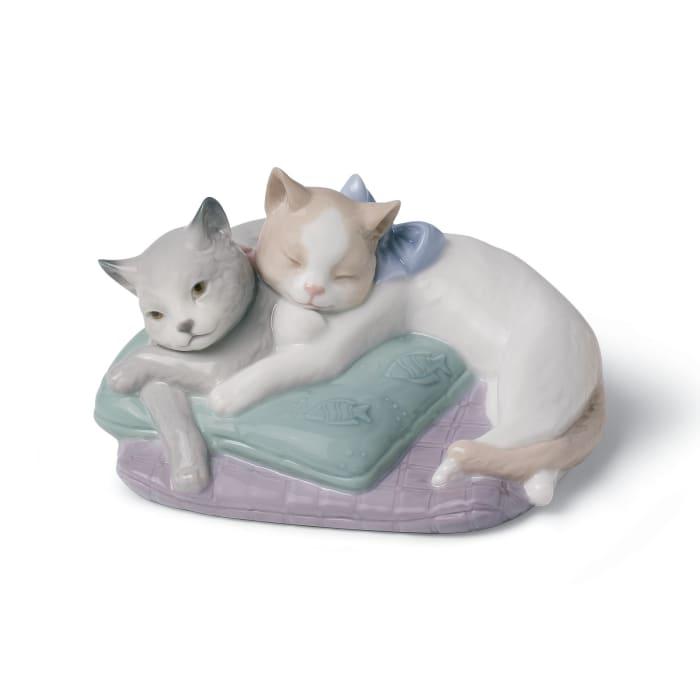 """Nao """"Snuggle Cats"""" Porcelain Figurine"""