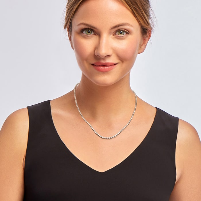5.00 ct. t.w. Diamond Tennis Necklace in 14kt White Gold 17-inch