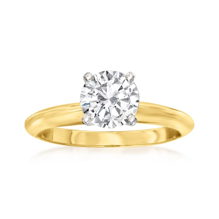14kt Yellow Gold Four-Prong Engagement Ring Setting