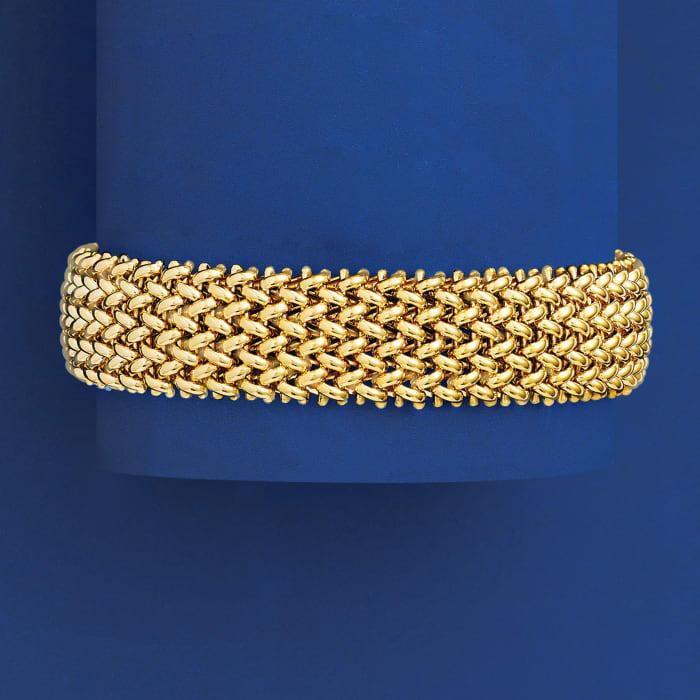 Italian 14kt Yellow Gold Riso Bracelet