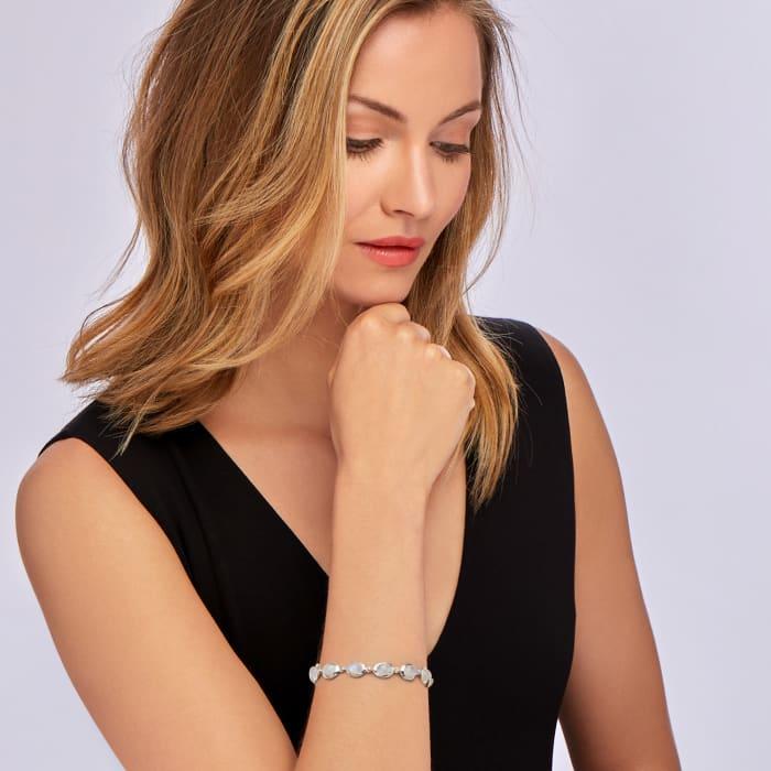 Moonstone Bracelet in Sterling Silver