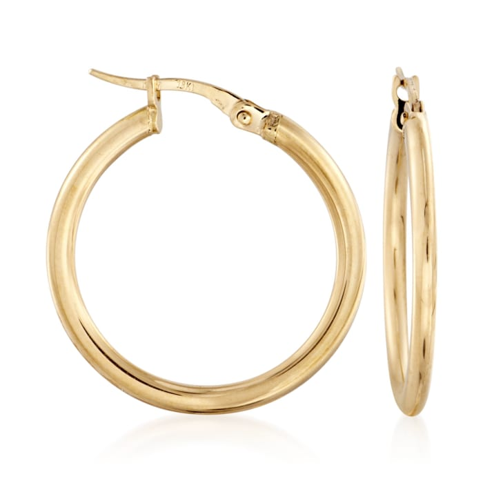 Roberto Coin 18kt Yellow Gold Hoop Earrings