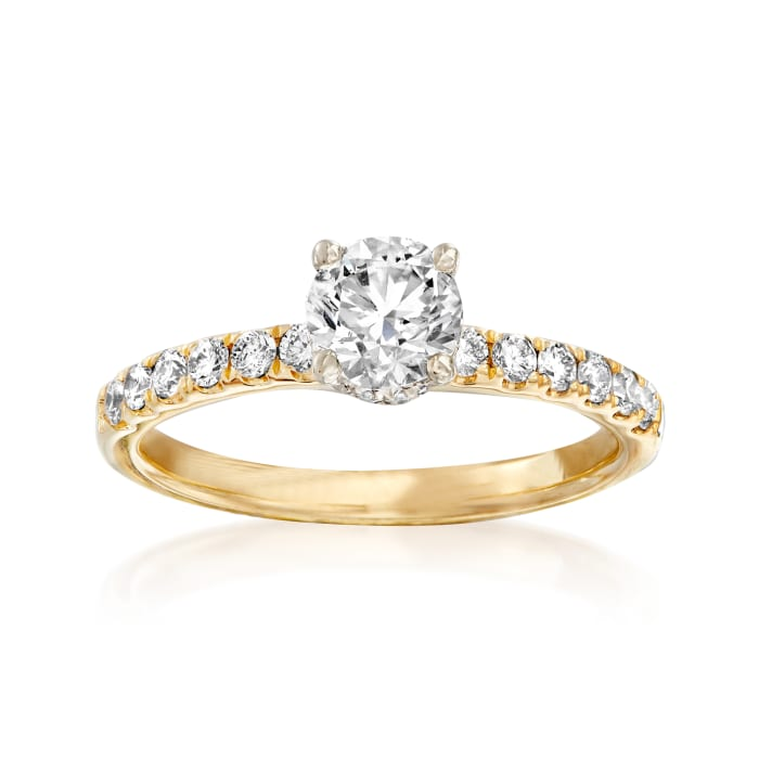 1.01 ct. t.w. Diamond Engagement Ring in 14kt Yellow Gold