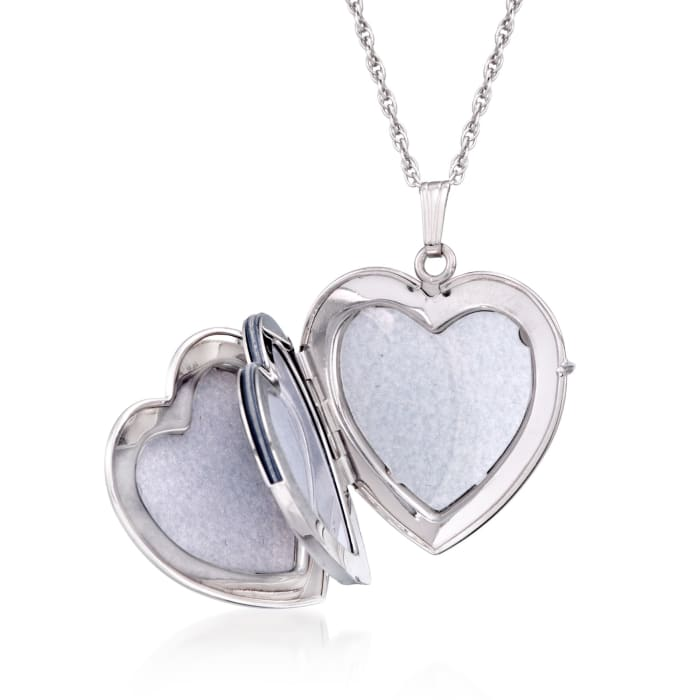Sterling Silver Personalized Heart Locket Necklace