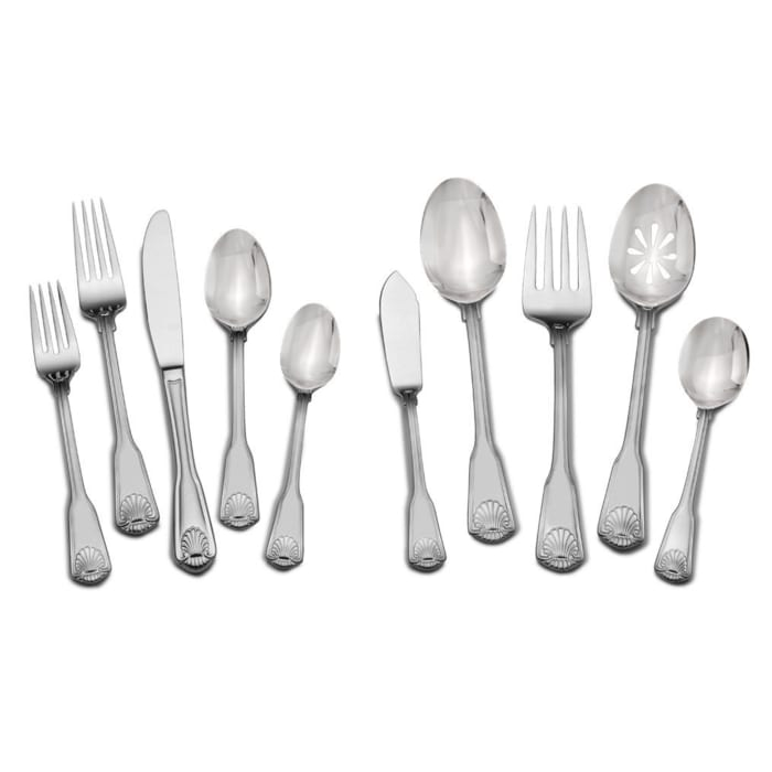 "Towle ""London Shell"" 45-pc. Service for 8 18/10 Stainless Steel Flatware Set"