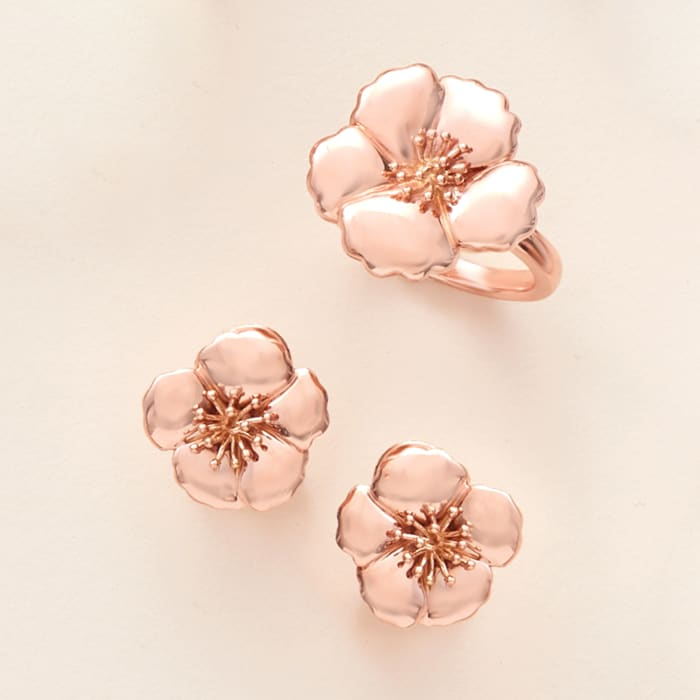 14kt Rose Gold Flower Ring