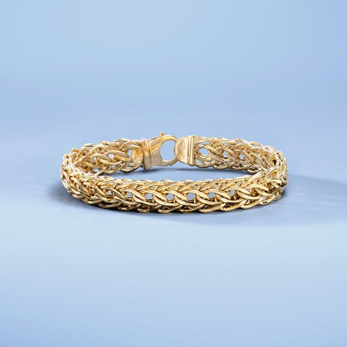 Italian 14kt Yellow Gold Cestina-Link Bracelet
