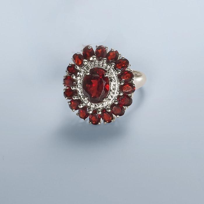 5.20 ct. t.w. Garnet Ring in Sterling Silver