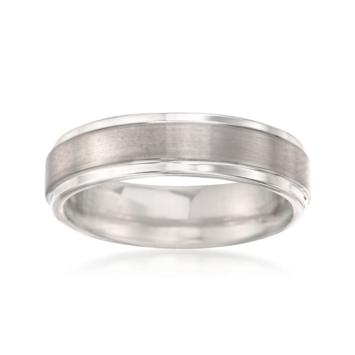 Men's 6mm Tungsten Carbide Brushed Wedding Band