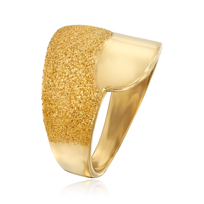 Italian 18kt Gold Over Sterling Ring