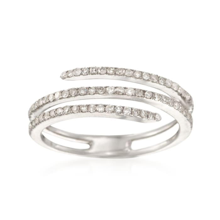 .35 ct. t.w. Diamond Coil Ring in Sterling Silver
