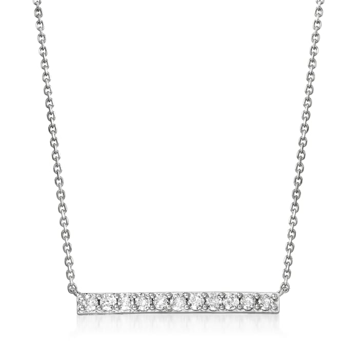 .50 ct. t.w. Diamond Bar Necklace in Sterling Silver