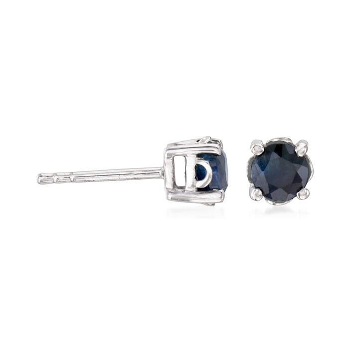 1.10 ct. t.w. Round Sapphire Stud Earrings in Sterling Silver