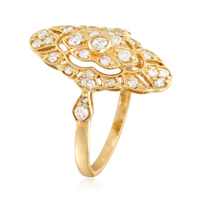 .50 ct. t.w. Diamond Openwork Ring in 14kt Yellow Gold