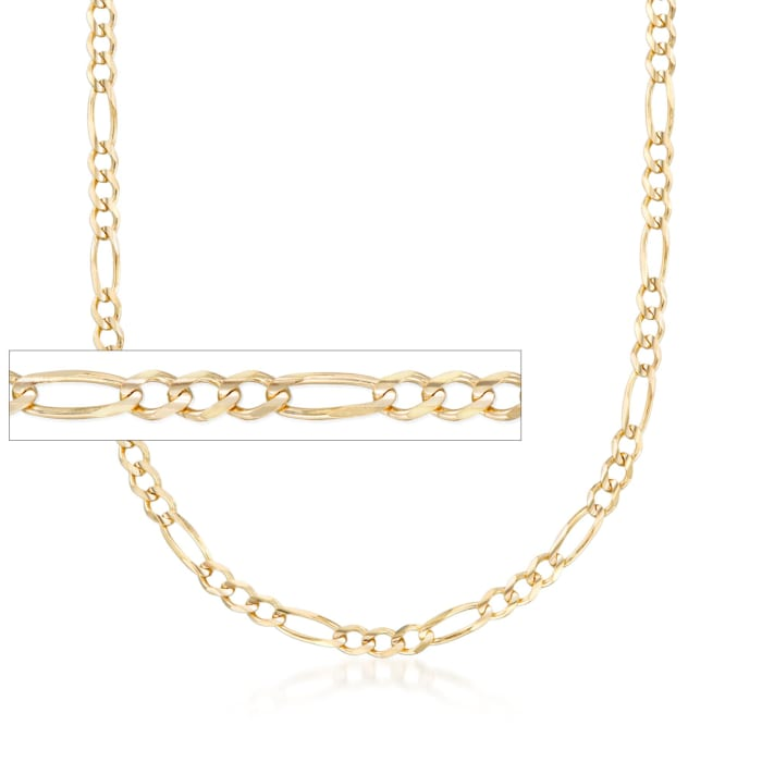 Men's 3.9mm 14kt Yellow Gold Figaro Chain Necklace