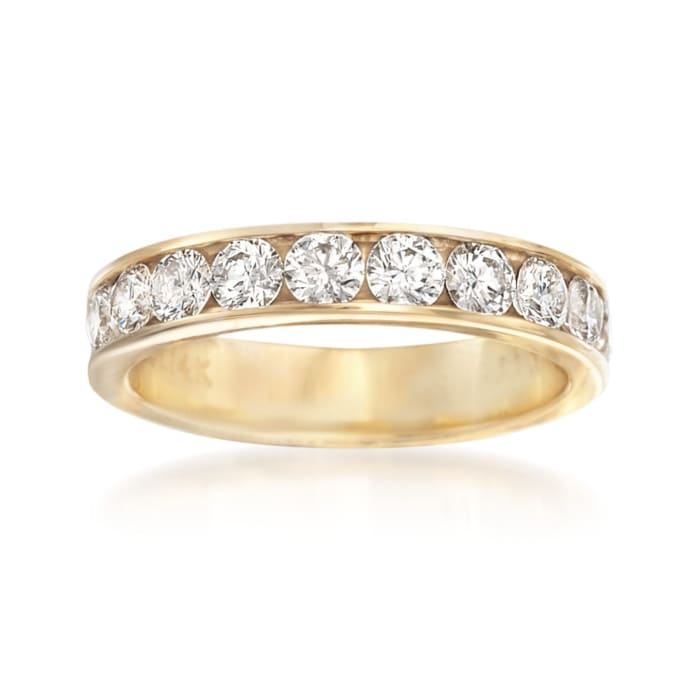 1.00 ct. t.w. Channel-Set Diamond Wedding Ring in 14kt Yellow Gold