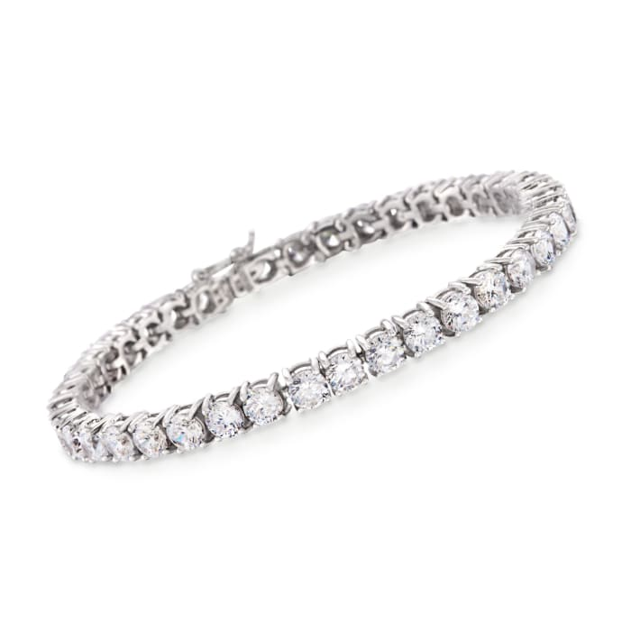 12.00 ct. t.w. CZ Tennis Bracelet in Sterling Silver