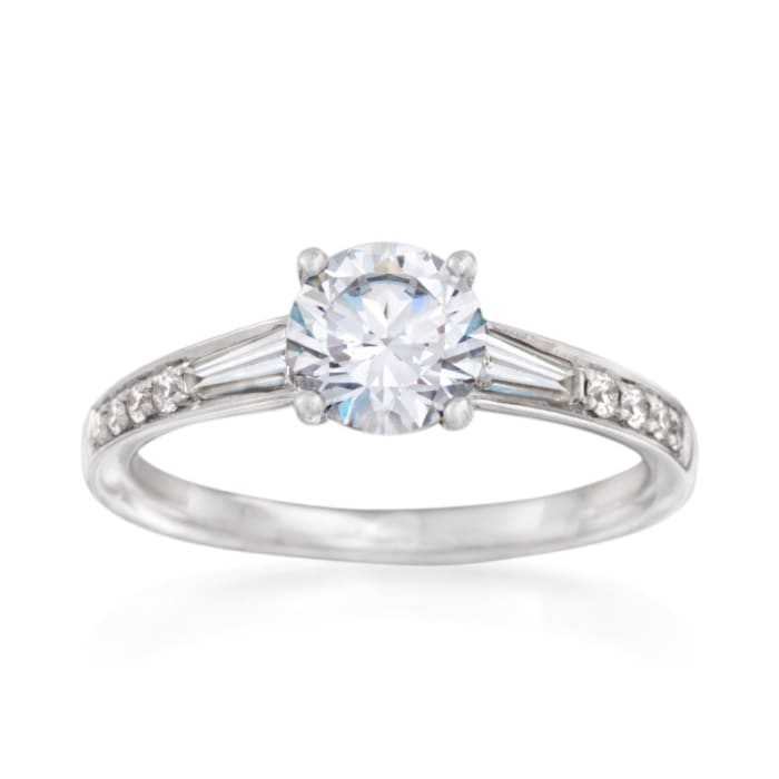 Simon G. .38 ct. t.w. Diamond Engagement Ring Setting in 18kt White Gold