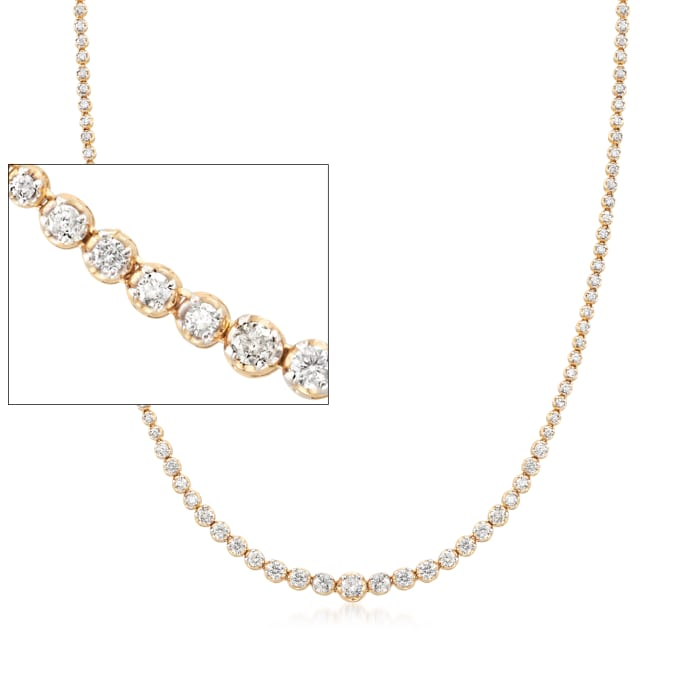 5.00 ct. t.w. Diamond Graduated Tennis Necklace in 14kt Yellow Gold