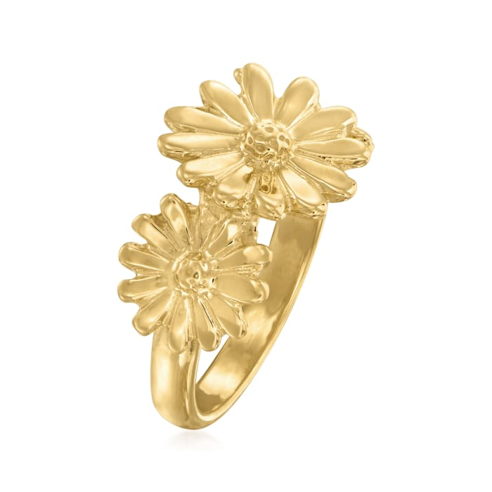 Italian 18kt Gold Over Sterling Daisy Ring