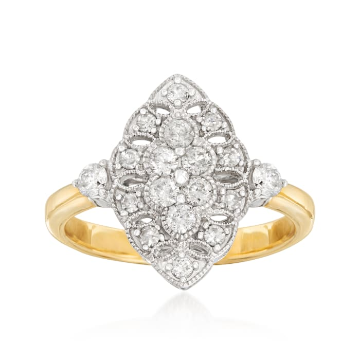 .62 ct. t.w. Diamond Ring in 14kt Two-Tone Gold