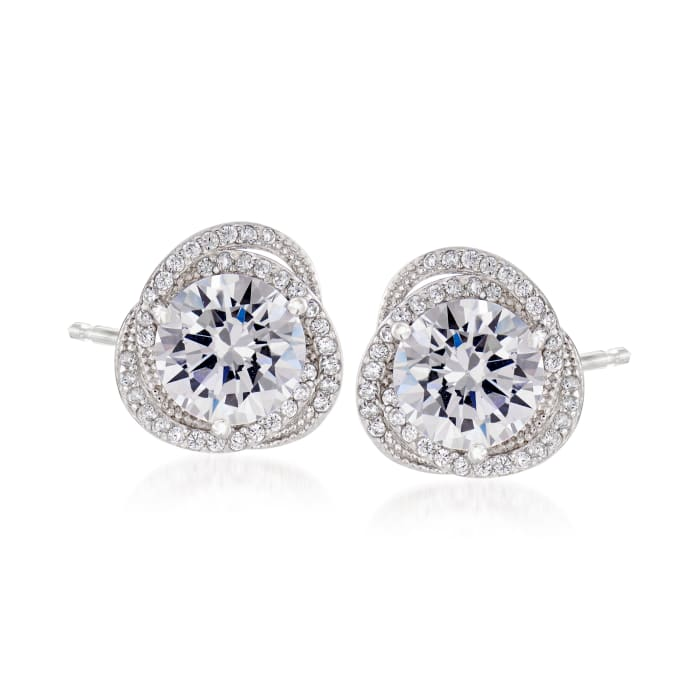 4.80 ct. t.w. CZ Stud Earrings in Sterling Silver