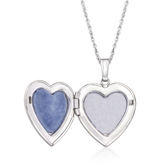 .50 Carat Birthstone Heart Locket Necklace in Sterling Silver