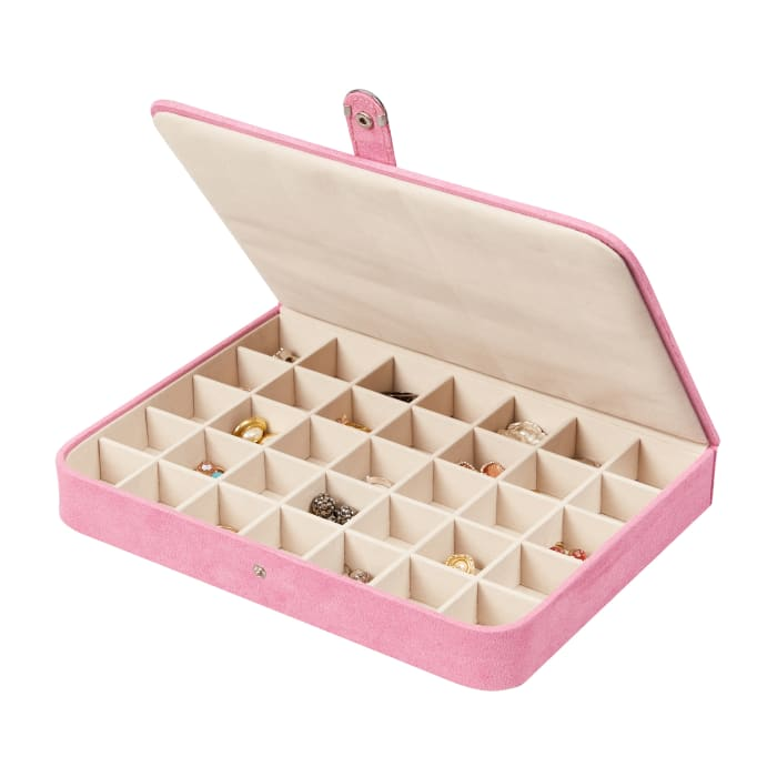"Mele & Co. ""Cameron"" Pink Jewelry Case"