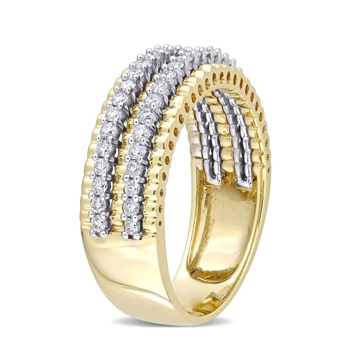 .50 ct. t.w. Diamond Double-Row Ring in 14kt Two-Tone Gold